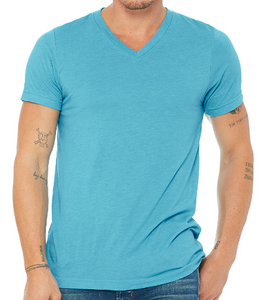 LUXE V-NECK T-SHIRT SHORT SLEEVE JERSEY / 10 COLORS / XS TO XX-L