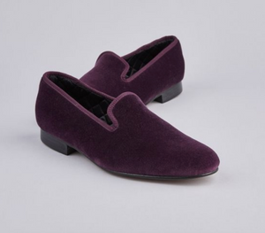 ENGLISH VELVET SHOES / PURPLE VELVET / 6 COLORS / SIZE 6 TO 13