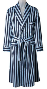 ROBE SHALL COLLAR / SARTORIAL BLACK STRIPE / GREY STRIPE