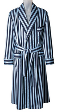 Load image into Gallery viewer, ROBE SHALL COLLAR / SARTORIAL MID BLUE SUITING STRIPE / GREY SUITING STRIPE