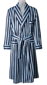 ROBE SHALL COLLAR / ELEGANT STRIPES / 2 COLORS / BLUE STRIPE / PINK STRIPE