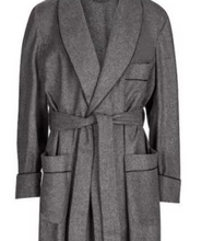 Load image into Gallery viewer, ROBE SHALL COLLAR / LUXURY WOOL PLAID MADE IN ENGLAND / 4 COLORS / FULLY LINED