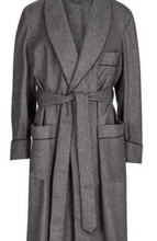 Load image into Gallery viewer, ROBE SHALL COLLAR / LUXURY GREY FLANNEL MADE IN ENGLAND / FULLY LINED