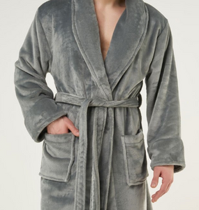 ROBE SHALL COLLAR / MEN / WOMEN / LUXE SOFT COZY / BLACK / NAVY / GREY / WHITE / MONOGRAMS