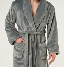Load image into Gallery viewer, ROBE SHALL COLLAR / MEN / WOMEN / LUXE SOFT COZY / BLACK / NAVY / GREY / WHITE / MONOGRAMS