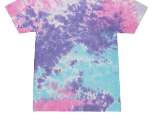 HAND TIE DYE T-SHIRT SHORT SLEEVE / 12 COLORS / S TO 5XL