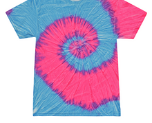 Load image into Gallery viewer, HAND TIE DYE T-SHIRT SHORT SLEEVE / 12 COLORS / S TO 5XL