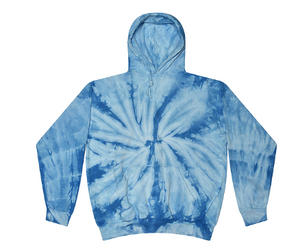 CHILDS SIZE / HAND TIE DYE PULLOVER HOODIE FLEECE / 5 COLORS / CHILD 2-4 / 6-8 / 10-12 / 14-16