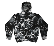 Load image into Gallery viewer, CHILDS SIZE / HAND TIE DYE PULLOVER HOODIE FLEECE / 5 COLORS / CHILD 2-4 / 6-8 / 10-12 / 14-16