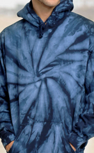 Load image into Gallery viewer, HAND TIE DYE PULLOVER HOODIE FLEECE / 8 COLORS / S TO XXX-L