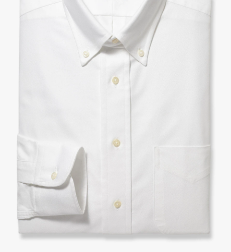 R P SHIRT / CLASSIC BUTTON DOWN FINE PINPOINT 80'S 2-PLY / WHITE / MONOGRAMS