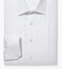 Load image into Gallery viewer, R P SHIRT / TUXEDO WIDE PLEATS / BUTTONS OR STUD FRONT / MONOGRAMS