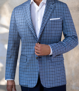 R P SPORTS JACKET / GREEN PLAID / WOOL / CLASSIC FIT