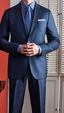 Load image into Gallery viewer, R P SUIT / NAVY BLUE WINDOWPANE / SLIM FIT