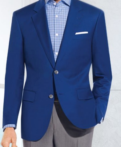 R P SPORTS JACKET / BLAZER SOLID FRENCH BLUE / WOOL / SLIM FIT