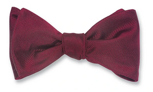 R P BOW TIE / PURE SILK FAILLE / HAND MADE