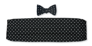 R P BOW TIE AND CUMMBERBUND SET / PURE SILK / HAND MADE