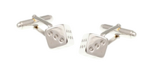 Load image into Gallery viewer, R P CUFF LINKS / SILVER CASINO SIX SIDED DICE DESIGN