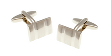 Load image into Gallery viewer, R P CUFF LINKS / SILVER RECTANGULAR DESIGN