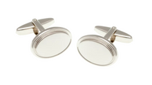 Load image into Gallery viewer, R P CUFF LINKS / SILVER OVAL DESIGN