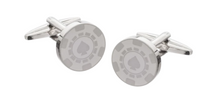 Load image into Gallery viewer, R P CUFF LINKS / SILVER CASINO POKER DESIGN