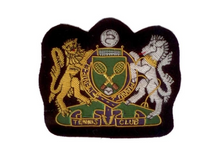 Load image into Gallery viewer, R P CREST / AUTHENTIC ENGLISH / HAND EMBROIDERED IN GOLD + SILVER BULLION