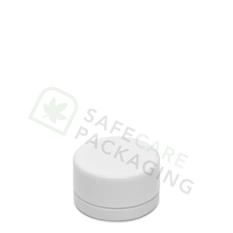 9.0 ml Round Frosted White Glass Concentrate Container / CR White Cap
