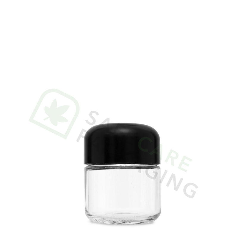 2.0 oz Glass Jar / Arch Black CR Cap
