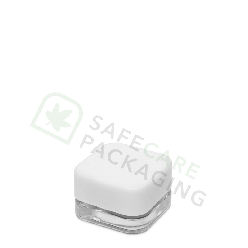 5.0 ml Square Glass Concentrate Container / White CR Cap