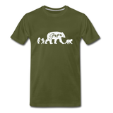 Papa Bear and Cubs Men's Premium T-Shirt - olive green