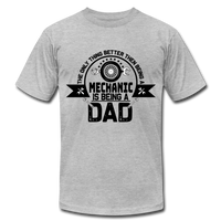 Mechanic Dad Fathers Day Shirt, Unisex Jersey T-Shirt by Bella + Canvas - heather gray