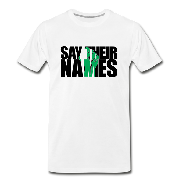 Say Their Names Men's Premium T-Shirt - white