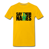 Say Their Names Men's Premium T-Shirt - sun yellow
