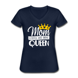 Mom, A Title Just Above Queen, Women's V-Neck T-Shirt