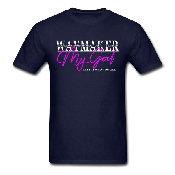 Waymaker, Miracle Worker, Promise Keeper, Light in the Darkness Unisex Classic T-Shirt - navy