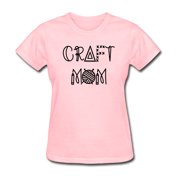 Craft Mom, Crafters Women's T-Shirt - pink