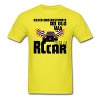 Never Underestimate and Old Man with an RC Car, Unisex Classic T-Shirt - yellow