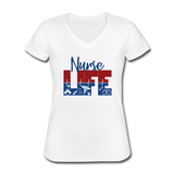 Nurse Life Shirt, Nurse Tshirt, Stethoscope, RN Shirt, Nursing Grad, Gift, For Women - white
