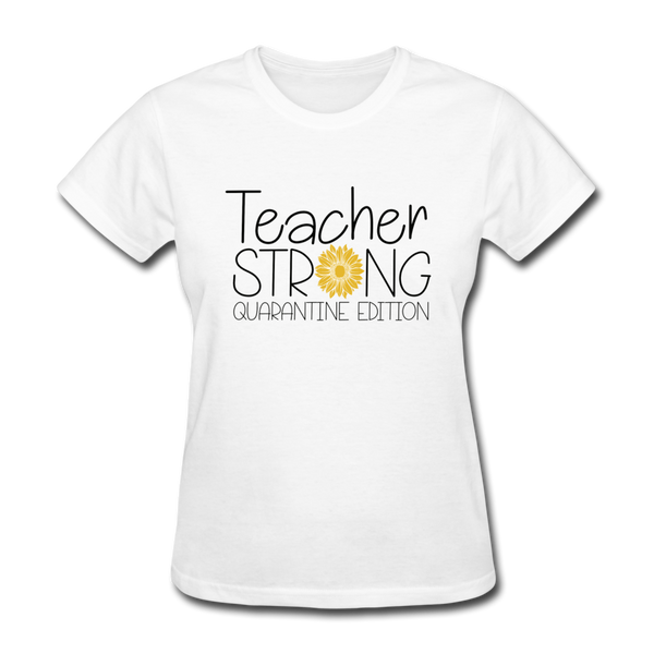 Teacher Strong Back to School, Teacher Women's T-Shirt - white