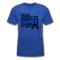 Dad by Day, Gamer by Night Video Game T-Shirt - mineral royal