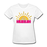 Hallelujah Christian Women's T-Shirt with Cross - white