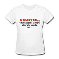 Momster, What Happens to Mom After She Counts to 3, Women's T-Shirt