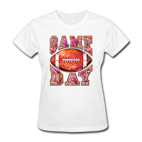 Game Day Football Shirt, Football Fan, Football Mom, Women's T-Shirt - white