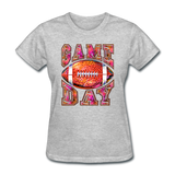 Game Day Football Shirt, Football Fan, Football Mom, Women's T-Shirt - heather gray