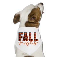 Dog Thanksgiving Bandana - Fall Vibes - white