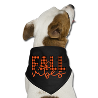 Dog Thanksgiving Bandana - Fall Vibes - black