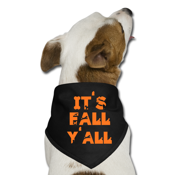 Dog Halloween Bandana - black