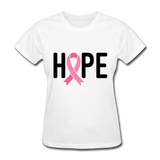 Cancer Awareness Shirt. Hope Cancer Shirt - white
