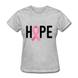 Cancer Awareness Shirt. Hope Cancer Shirt - heather gray