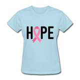 Cancer Awareness Shirt. Hope Cancer Shirt - powder blue